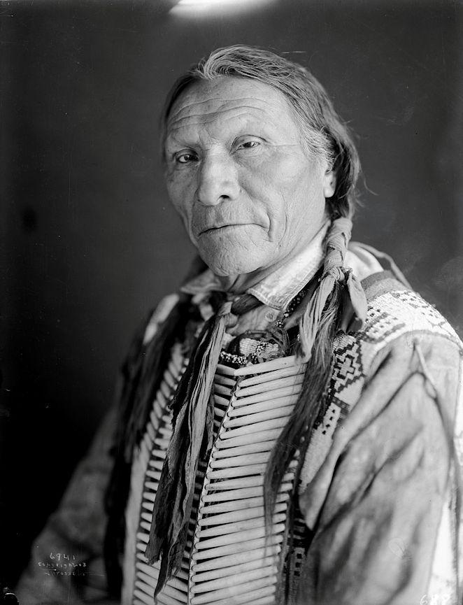 White Hawk. Cheyenne. 1905. Northern Cheyenne Indian Reservation, Montana. Photo by Richard Throssel ..*