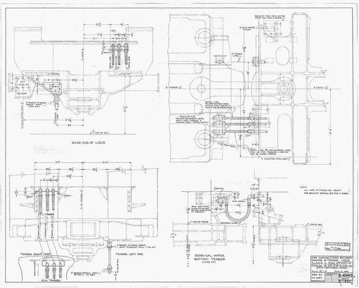 Pin on N&W And VGN Steam Locomotive Technical Drawings.