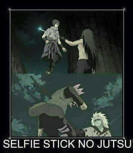Haha :)) Madara's Selfie Stick's are Sasuke and Sakura :)) Who could have thought of that?! ♠