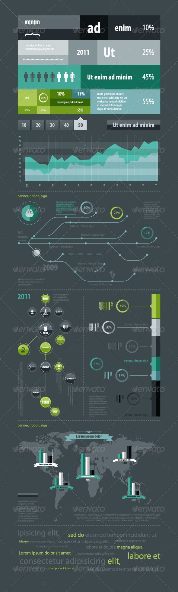 Elements of infographics with a map of the World - http://startupstacks.com/infographics/elements-infographics-map-world.html - free download