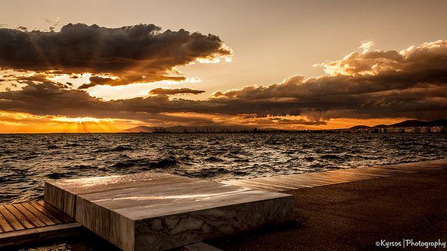 Thessaloniki, Nea Paralia, (New Waterfront) Beautiful sunset!!! ----- Θεσσαλονίκη, Νέα Παραλία. Πανέμορφο ηλιοβασίλεμα!  #thessaloniki #nea #paralia #waterfront #sunset #greece #macedonia #θεσσαλονικη #ελλαδα #μακεδονια #ηλιοβασιλεμα #νεα #παραλια