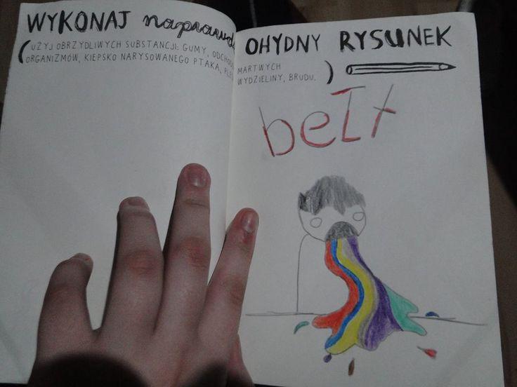 Podesłała Karolina Witkowska #zniszcztendziennikwszedzie #zniszcztendziennik #kerismith #wreckthisjournal #book #ksiazka #KreatywnaDestrukcja #DIY