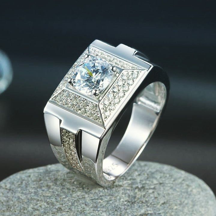 Men S Solid Sterling 925 Silver Ring Price 70 00 Store Description Ring Size Available Us Size 7 8 9 Mens Wedding Bands 925 Silver Rings Wedding Men