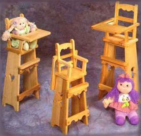 DIY Baby Doll High Chairs .... really nice plans! | Baby ...