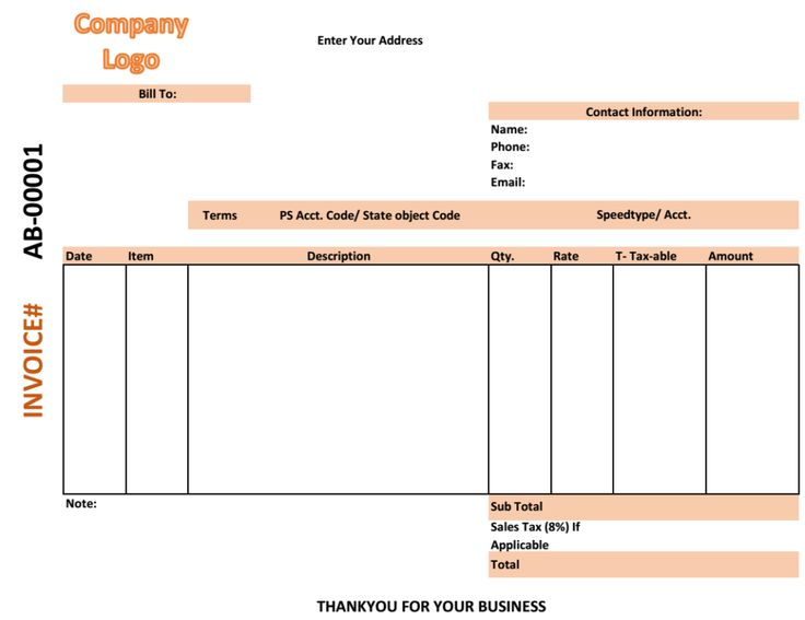 medical shop bill invoice template Excel Business Invoices - free invoice forms pdf