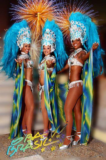 Samba  Danseuses brésiliennes  Brazilians Dancers Costume bresilien brasil brazil brésil