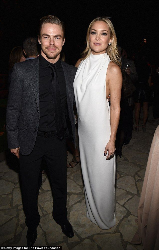 A beau or no? The siren with dancer Derek Hough at Goldie Hawn's inaugural Love In For Kid...