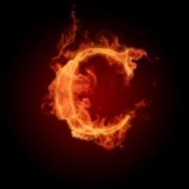 Burning Letter C