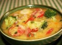 Суп с овощами и чечевицей