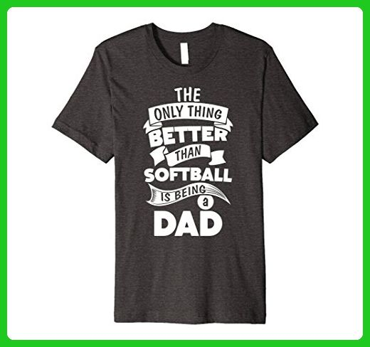 Mens Softball Fathers Day Gift Idea for Dad T-Shirt 2XL Dark Heather - Holiday and seasonal shirts (*Amazon Partner-Link)