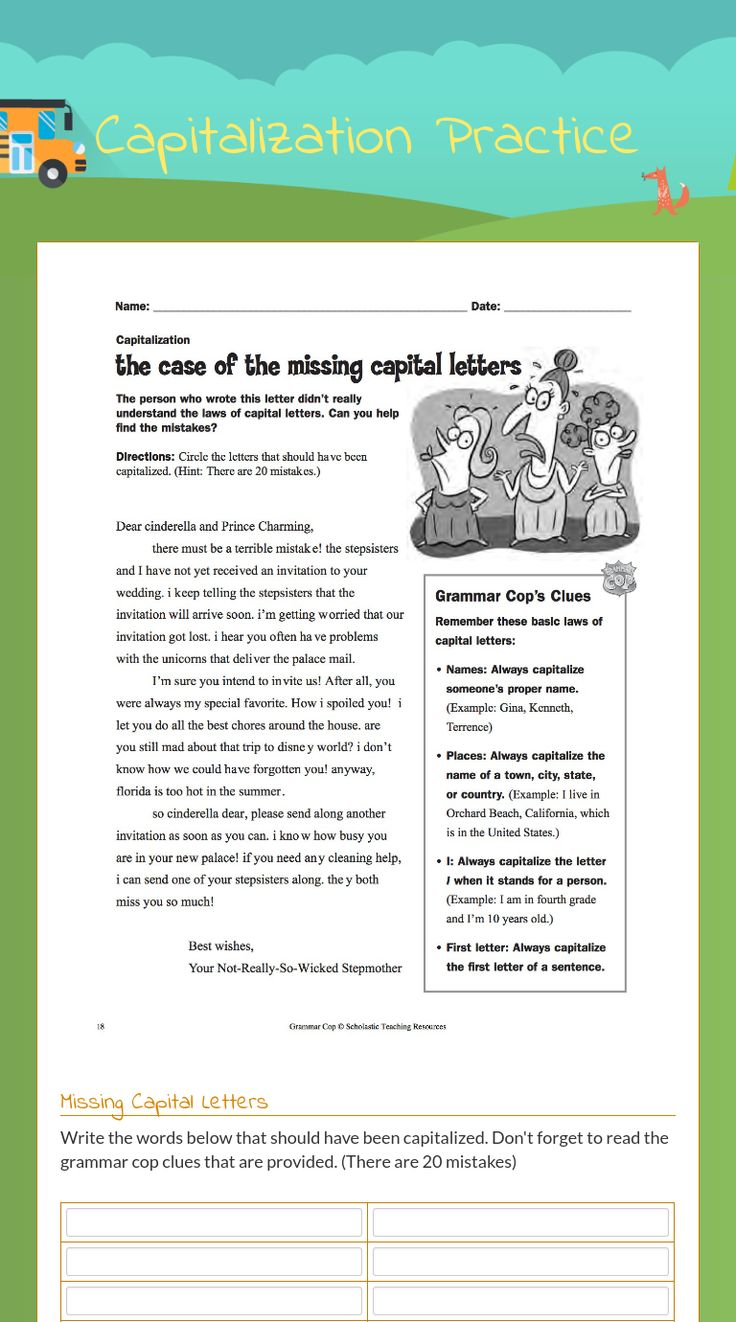 17 best grammar worksheets on wizer images on pinterest grammar me free interactive grammar cop capitalization grammar blended worksheet capitalization practice by teacher tomorrow rodriguez stopboris Image collections