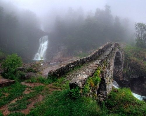 Ancient Stone Bridge, Piedmont, Italy