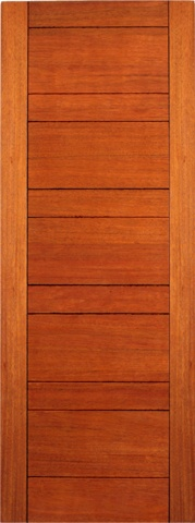 """$300.00  Prehung Slab Mahogany Contemporary Modern 5 Panel RB-01 Interior Single Door 80 96"""" Tall FSC Interchangeable PanelsRB-01 Flush DoorRubi DoorsBeautiful contemporary door for interior / exterior useFSC Certified Brazilian MahoganyEngineered stile and rail constructionWood has been carefully kiln driedPerfect for contemporary homesAvailable in a wide variety of sizesPrehung and prefinish options available"""