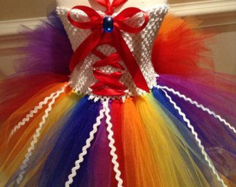 Macaw Parrot Bustle Tutu by TieDyedFairyTales on Etsy