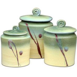 Handmade Ceramic Canister Set From Pottery By Jessie.