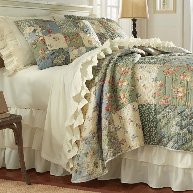 Just Found This Country Floral Patchwork Quilt Serenity