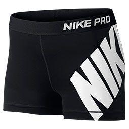 Women's Nike Pro Logo 3 Inch Shorts | Finish Line