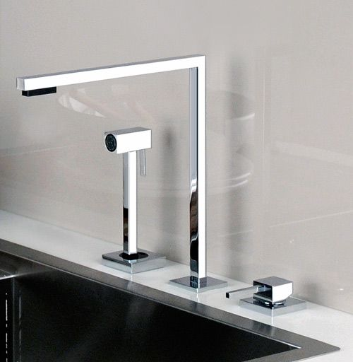 Simplicity and sleek design, the Minimo kitchen faucet by Gessi _