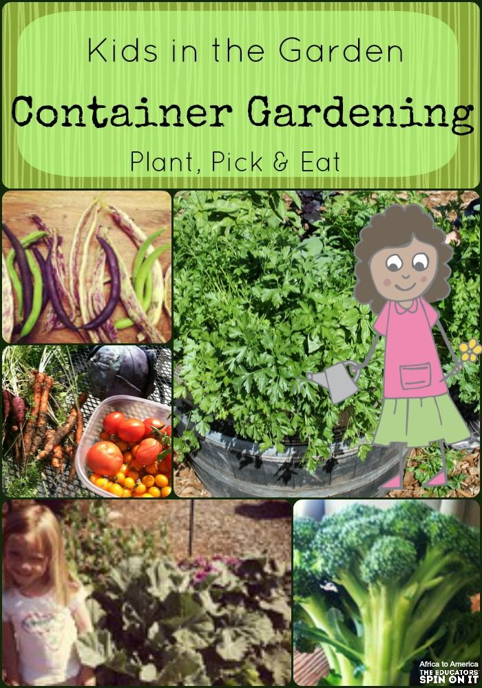 Learning about growing with container gardens!