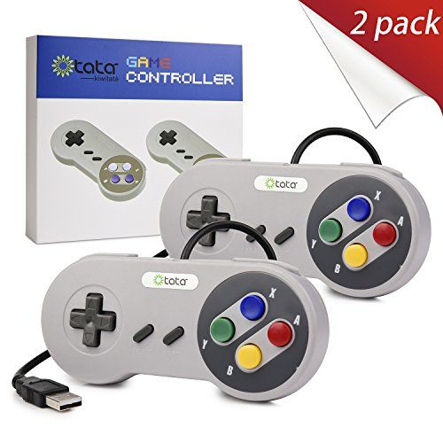 2 Pack SNES Super Nintendo USB Controller,kiwitatá Retro Classic PC Game Controller Joystick for Windows Raspberry Pi NES and SNES Emulator:   About kiwitatá®:/b brkiwitatá is registered trademark and is exclusively distributed by kiwitatá,kiwitatá trademark Serial Number:86809453. brkiwitatá is protected by Trademark Law. kiwitatá has always devoted itself to providing highly quality and outstanding fashionable products with the end-users.  Wake your childhood memories/bbr✔ When you p...