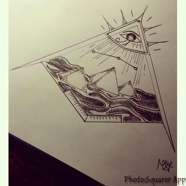 #piramidi #orione #puntinismo #occhiosacro #dio #ra #pyramid #ink #black #bwork #blacktattooing #blackink #blacktattooart