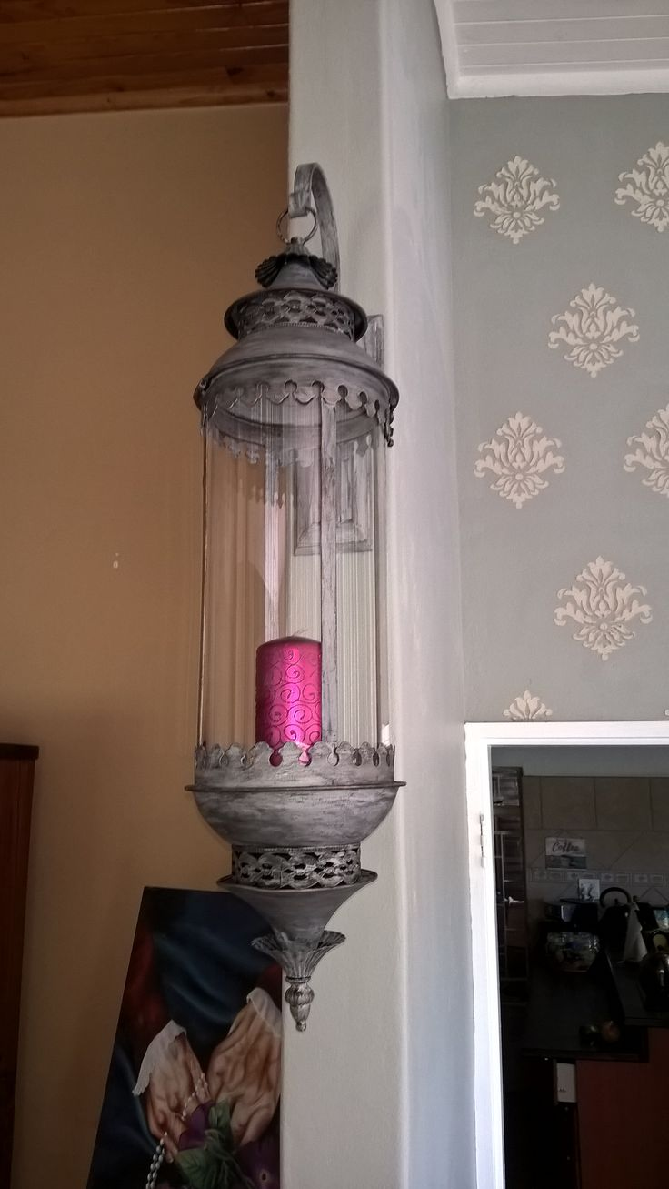 Painted lamp from bronze to antique silver