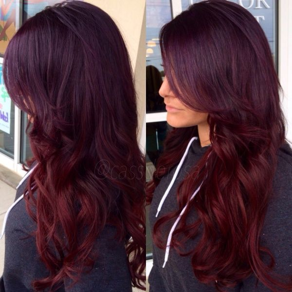 paul mitchell 4VR on top with pravana purple overlay and pravana red on ends