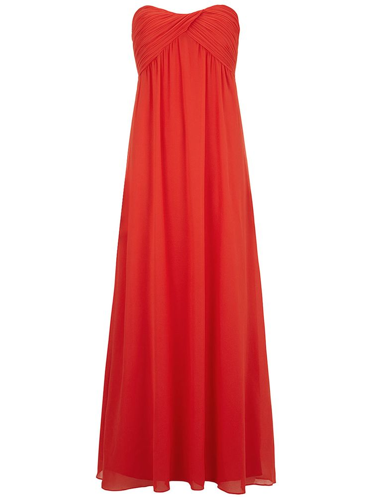Maxi-robe bustier corail ruchée - Dorothy Perkins France