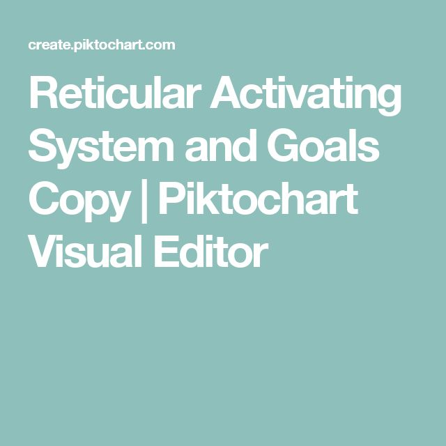 Reticular Activating System and Goals Copy | Piktochart Visual Editor