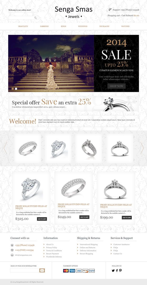 Jewelry HomePage Design