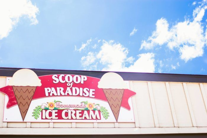 Located in an unassuming strip mall surrounded by eclectic boutiques on Kamehameha Highway in Haleiwa, Scoop of Paradise is the perfect place to stop for a scoop - or two - of ice cream while exploring this picture-perfect town.