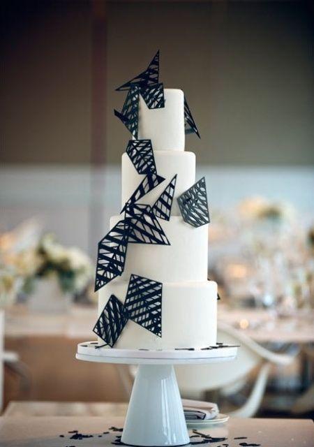 個性的でかっこいい!モダンな結婚式のウェディングケーキまとめ一覧♡