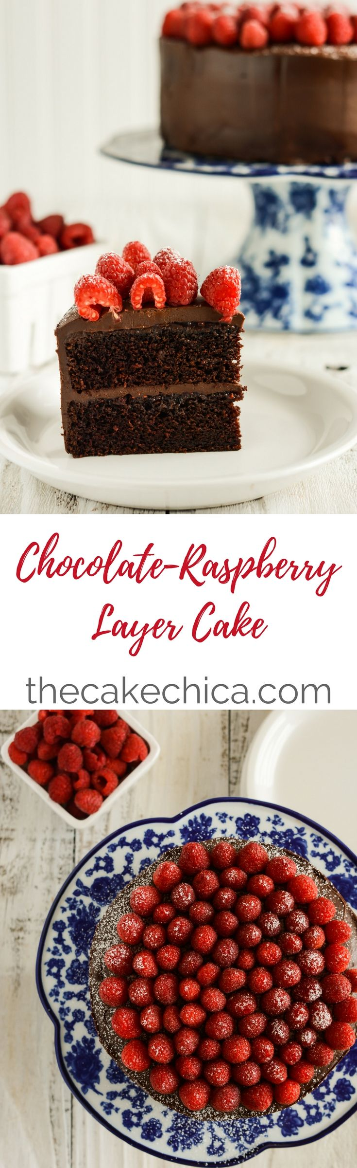 This Chocolate Raspberry Layer Cake is not only beautiful, but also tasty! Chocolate and raspberry is the perfect combination for any dessert.