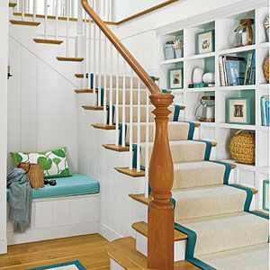 11 Stylish Staircases | Pops of Color | Love this Staircase -- CoastalLiving.com
