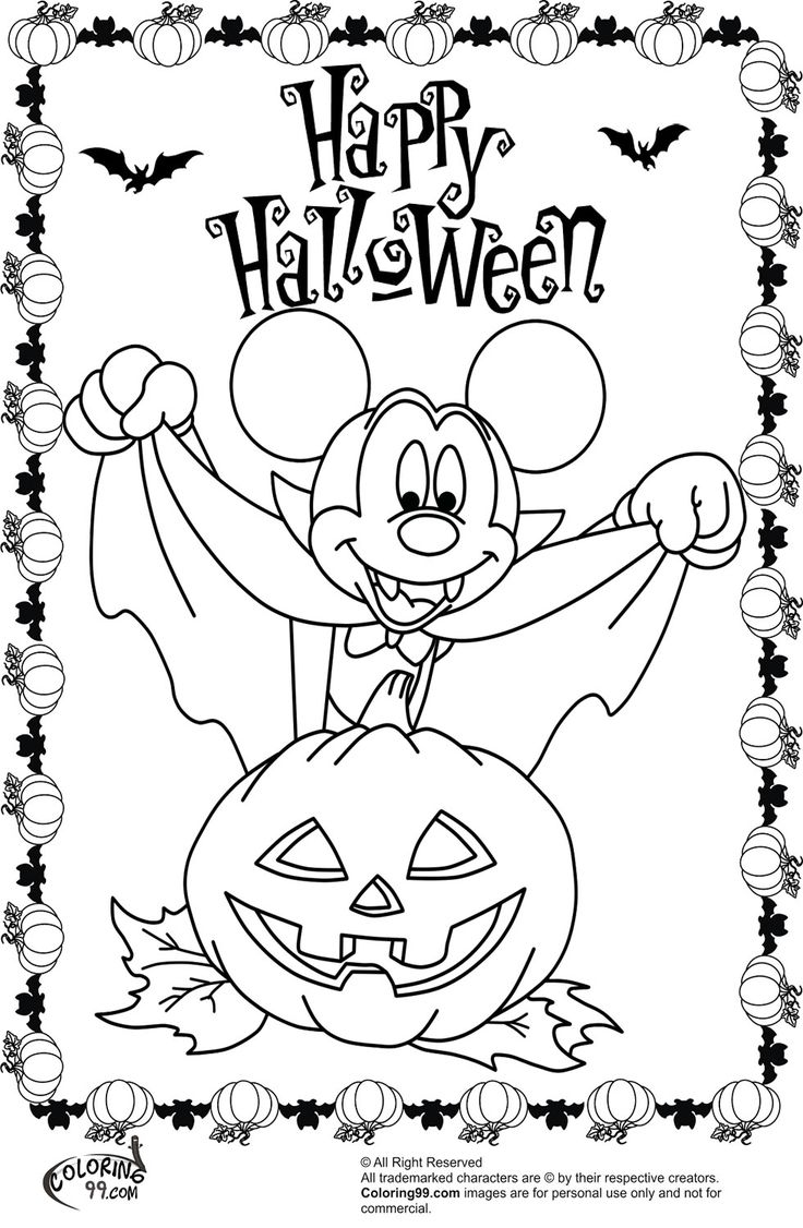 45 best halloween colouring pages images on pinterest disney