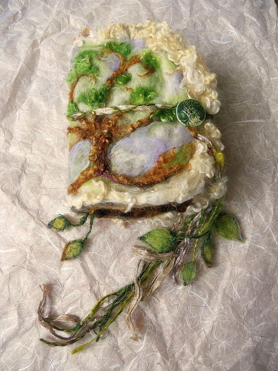 rustic journal fantasy felted wool art book  by beautifulplace, $72.00