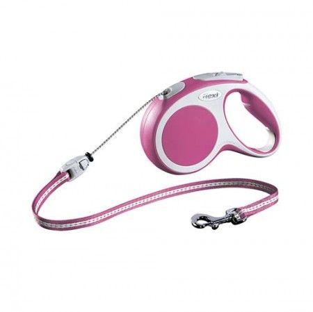 Flexi Vario cord medium pink 5 meter - Flexi dog lead Flexi M medium - globaldogshop.com