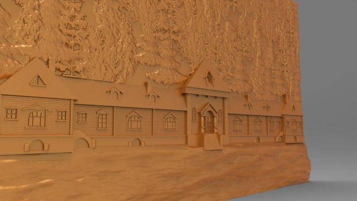 Kars Katerina Köşkü 3d modeli cnc mimari çizimler www.3drolyef.com