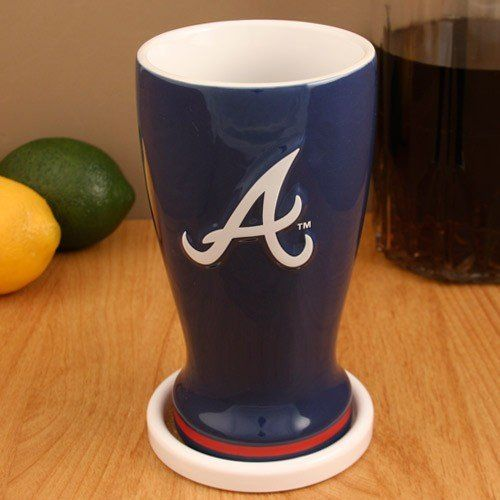 Atlanta Braves Navy Blue 16oz. Ceramic Pilsner  //Price: $ & FREE Shipping //     #sports #sport #active #fit #football #soccer #basketball #ball #gametime   #fun #game #games #crowd #fans #play #playing #player #field #green #grass #score   #goal #action #kick #throw #pass #win #winning