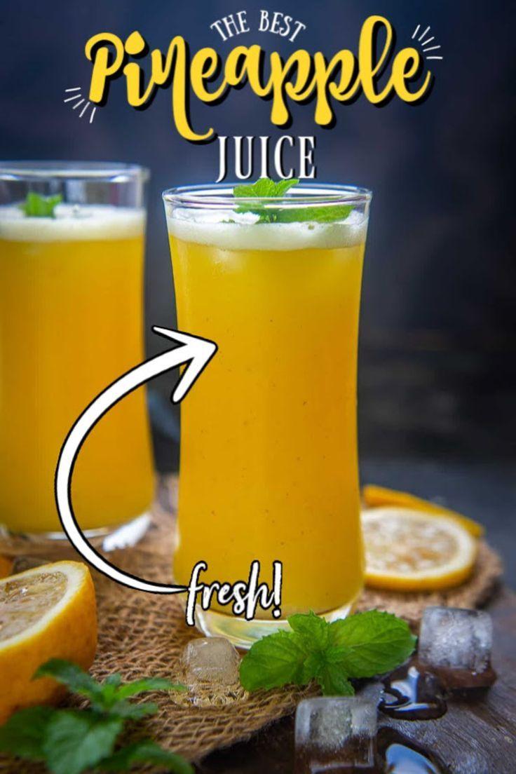 Homemade Fresh Pineapple Juice Recipe In 2020 Pineapple Juice Recipes Juicing Recipes Pineapple Juice
