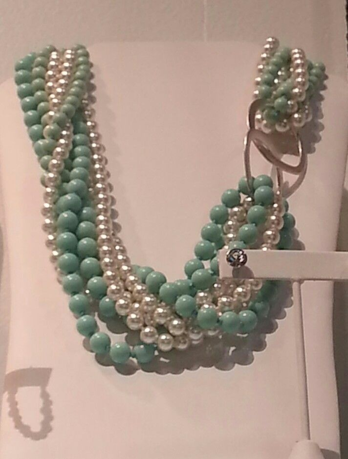 Premier Designs Fall line 2014- Opening Night twisted with Seabreeze held together with Round About earrings