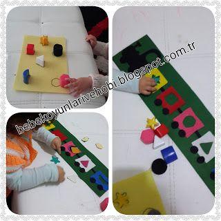Elifce Bebek Oyunları ve Hobi: Şekiller treni (Figures train) eşleştirme