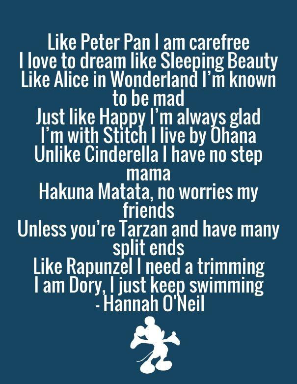 My Disney Poem I wrote