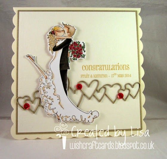 Stamping Bella—Brett & Brenda Get Married—Heart Parade die - Simon Says Stamp (cut 3 times and layered)