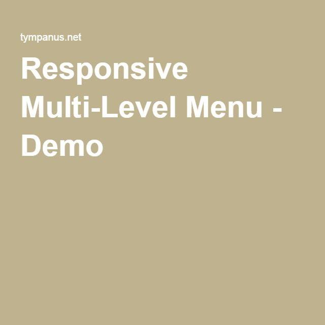 Responsive Multi-Level Menu - Demo 2