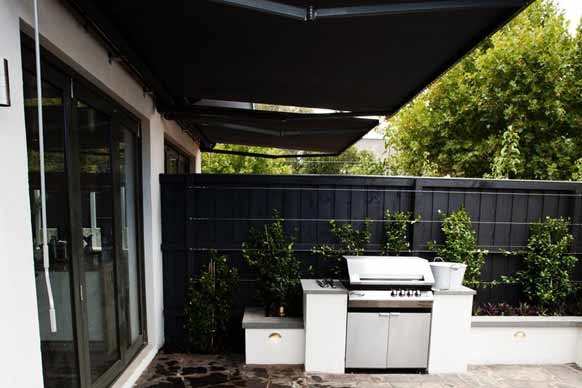 Awning & rendered bbq