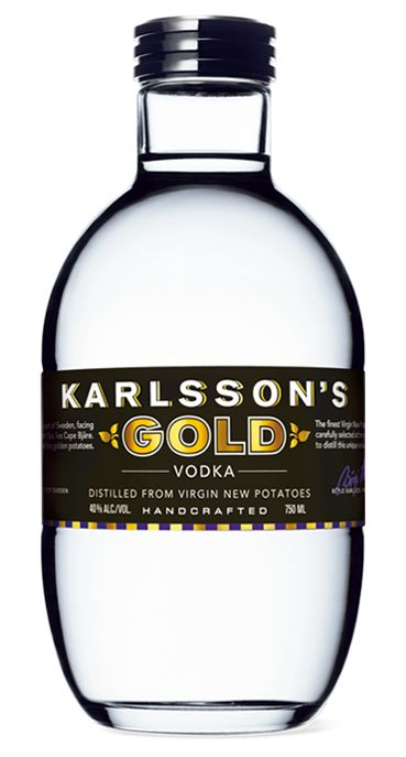 Made from Swedish new potatoes and distiller only once, Karlsson's Gold Vodka brings some character back to vodka