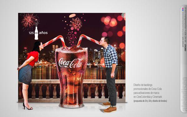 Activación BTL Coca-Cola  en cines by alejandro O. S., via Behance