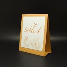 Catherine tent table number & menu