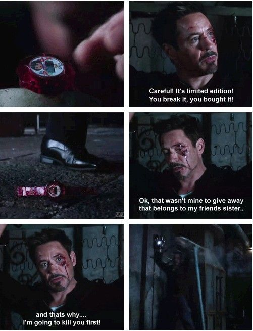 Let's take a minute to appreciate the fact that Tony Stark killed a man over Dora.. (gif set)